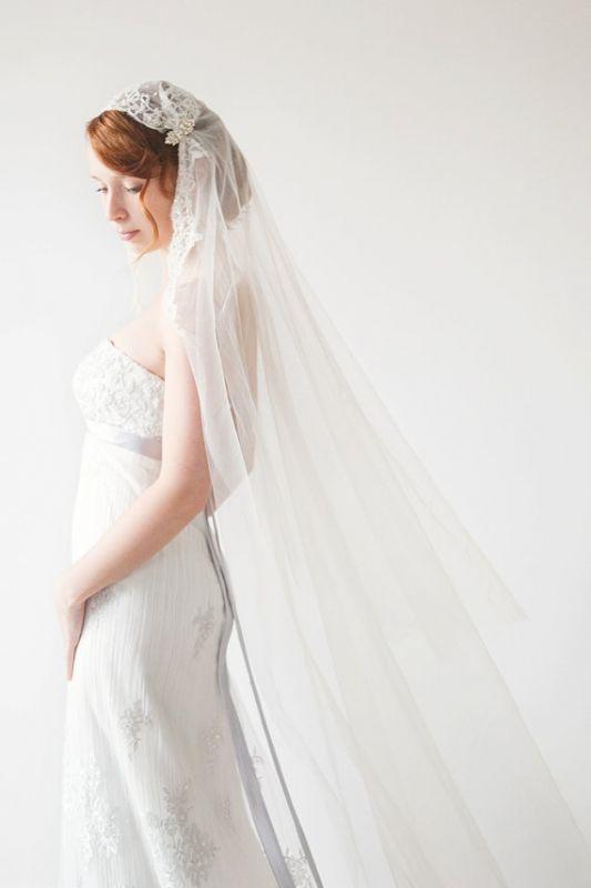 I need help with a veil/hair to go with my dress!! :  wedding veil flowers dress help kate moss Veil
