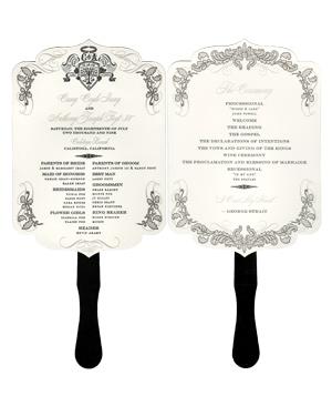As I attempt: Wedding Program Fan Design