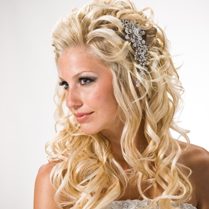 bridal hairstyles down for long hiar with veil half up 2013 for short hair indian half up half