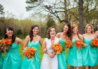 Please help: NEED A BRIGHT TEAL/AQUA/MINT BRIDESMAID DRESS?