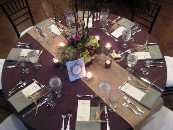 chair rental utah circular swivel table linens eggplant   home decoration club