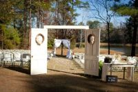 Outdoor Decor Using Old Doors - Green Room Interiors Blog