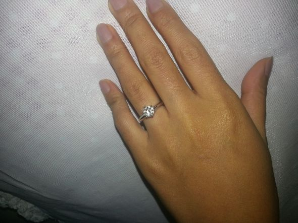 Show me your Tiffany enagement rings and wedding bands