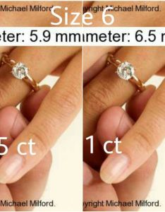 also pics comparing diamond sizes ct going up at  time rh boardsdingbee
