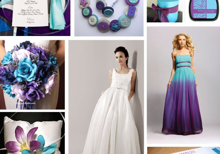 Purple And Turquoise Wedding Theme