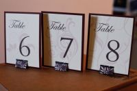 Diy Table Number Holders Pictures to Pin on Pinterest ...