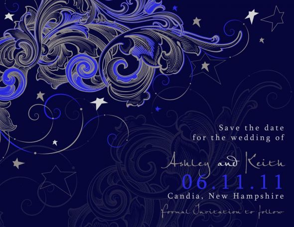 A little help with a star theme. :  wedding Our Save The Dates