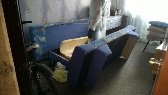 Раскладную мебель лучше заранее разложить