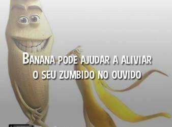 A Banana Ajuda a Aliviar o Zumbido no Ouvido
