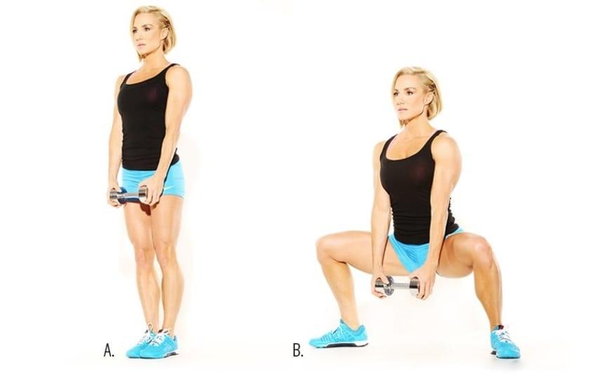 10 Exercícios de Agachamento para Glúteos que Realmente Funcionam - Agachamento sumô (Sumo Squat) com sobrecarga