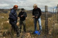 Setting another camera trap