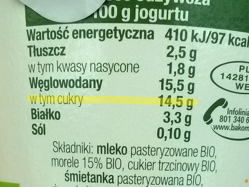 Czytajmy etykiety: cukier jest wszędzie!