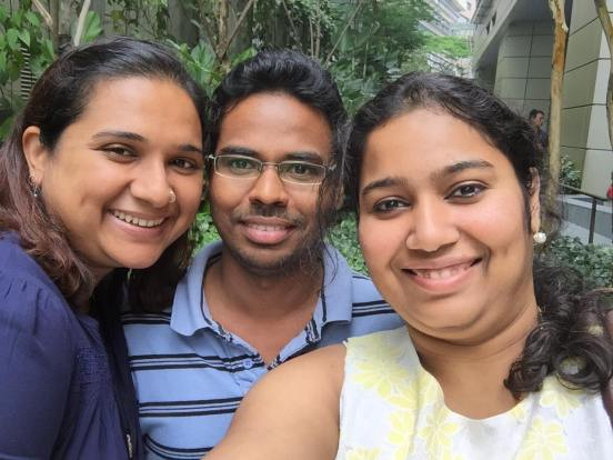 The founders: Sandhya, Prasanna and Laxmi