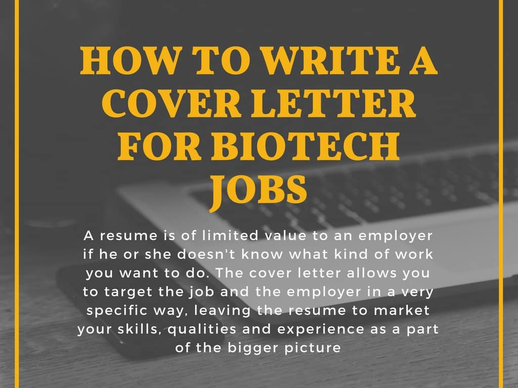 job specific cover letter