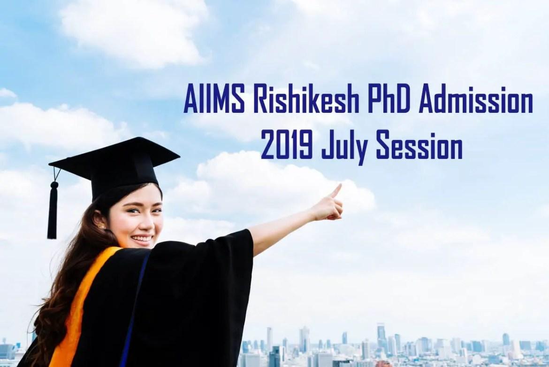 AIIMS Rishikesh PhD Admission