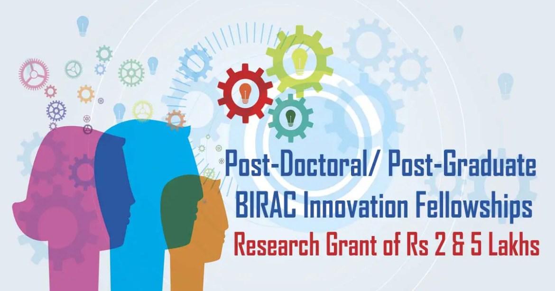 BIRAC Innovation Fellowships