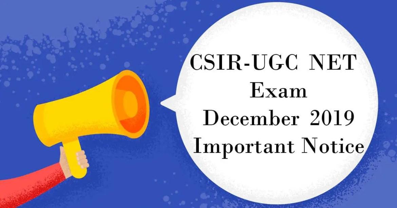 CSIR NET December 2019
