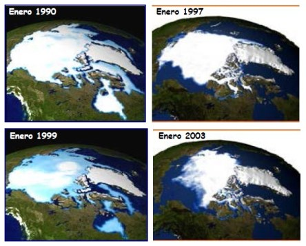 Disminución del hielo ártico
