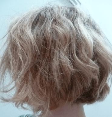 Capture cheveux avant brossage