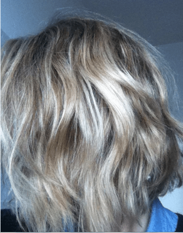 Capture cheveux post brossage