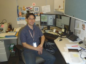 Yoshinori Nakazawa hard at work (photo by A Peterson).