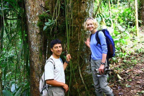 Sarah and Noe in the Ecuadorian Andes