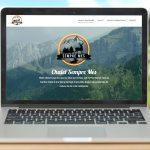 Site sous Wordpress et logo pour le chalet Sempre Mes