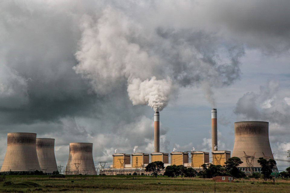 Most carbon dioxide added to the atmosphere comes from burning fossil fuels (Credit: Stevepb)