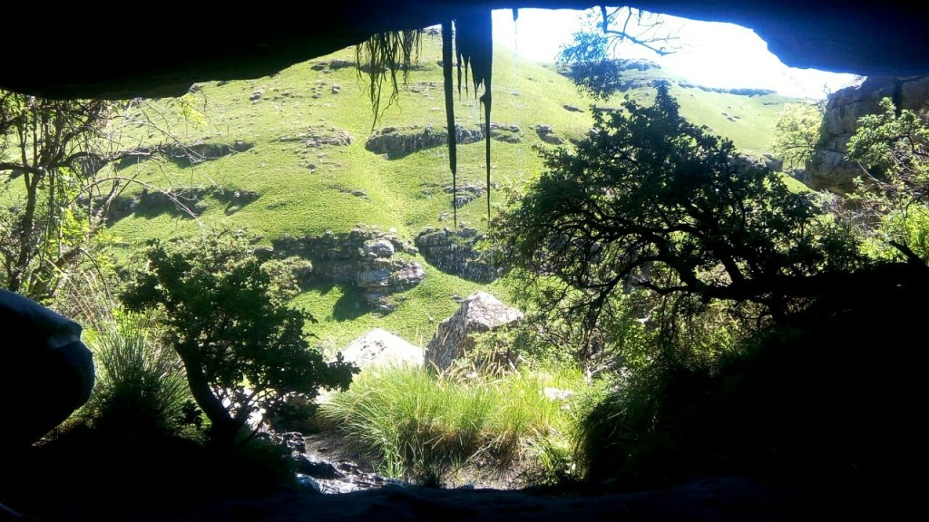 Inside a cave in the Drakensberg