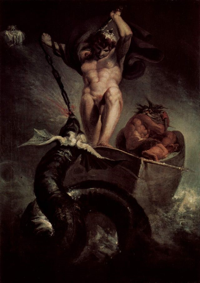 Fig3. Thor battering the Midgard Serpent (1790) by Henry Fuseli
