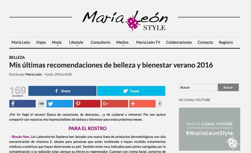 Portada María León Style