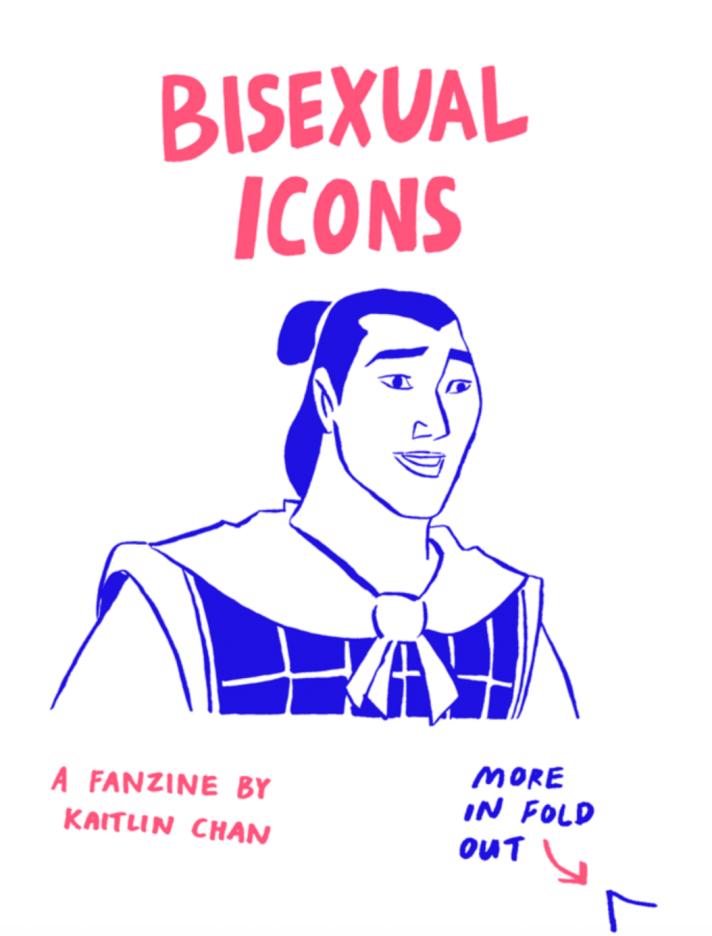 bisexual icons a fanzine zine art