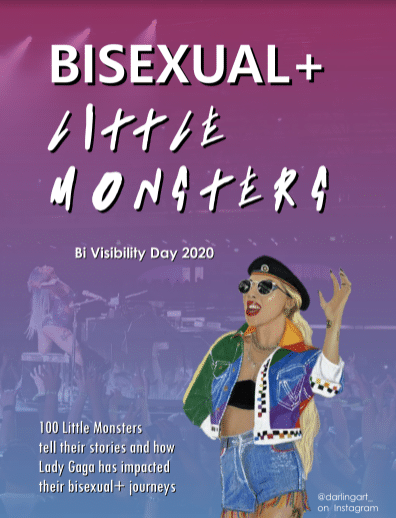 bisexual+ little monsters zine art