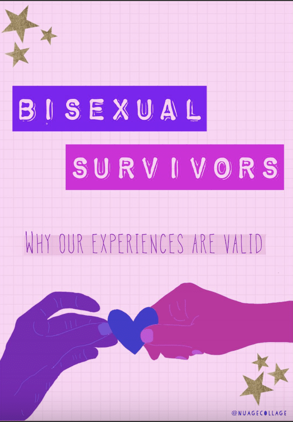 bisexual survivors why our experiences are valid zine art
