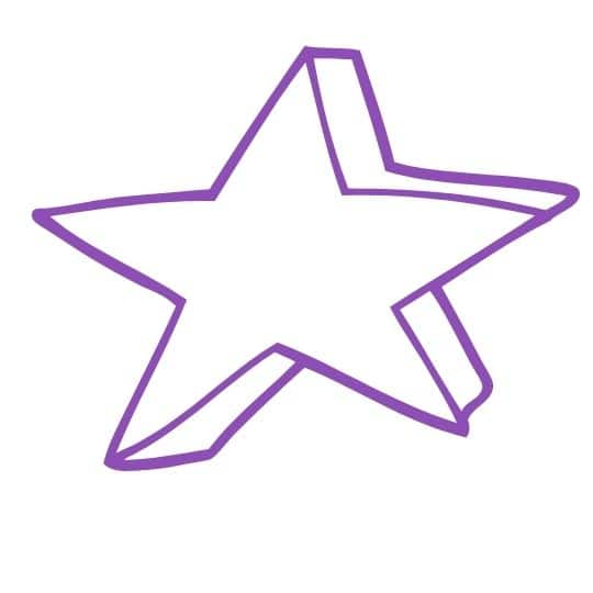 purple star for scavenger hunt