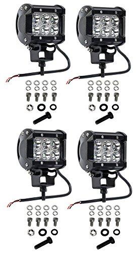 Nilight 2PCS 18W Spot LED Work Light Driving Lights Led