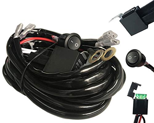 Amp Universal Wiring Harness For Off Road Led Light Barsrelay On Off