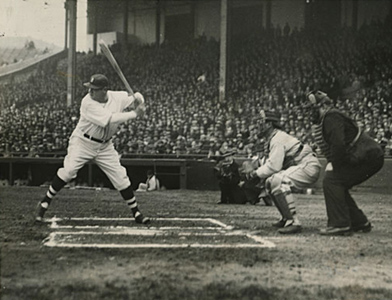 Picture of Babe Ruth Batting