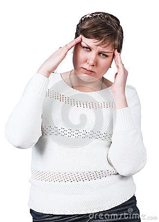 plump-woman-headache-isolated-white-70540759