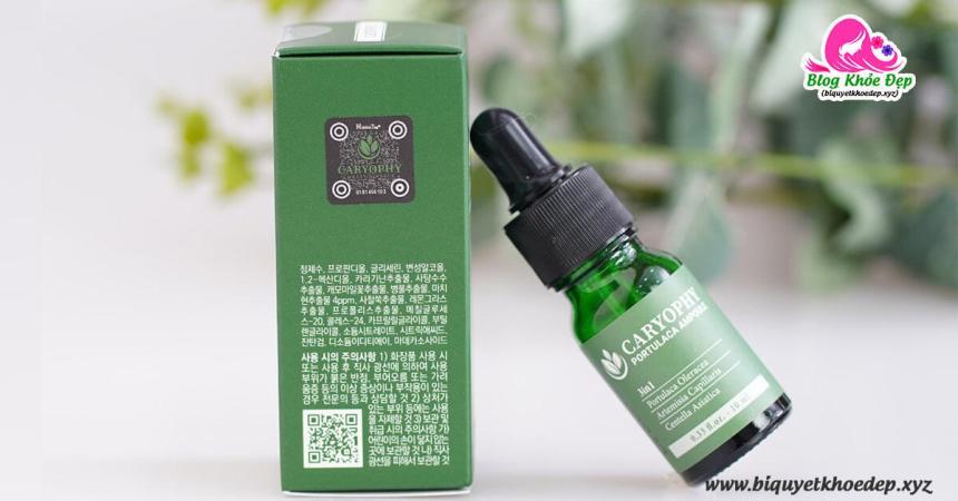Review serum trị mịn Caryophy Portulaca Ampoule