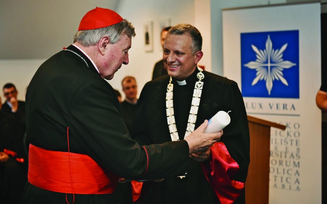 Kardinal Georg Pell, foto Hrvatsko katoličko sveučilište, www.unicath.hr
