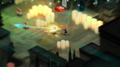 Red breaches a Creep's defense. (Image credit to Supergiant Games, retrieved from their official Transistor page)