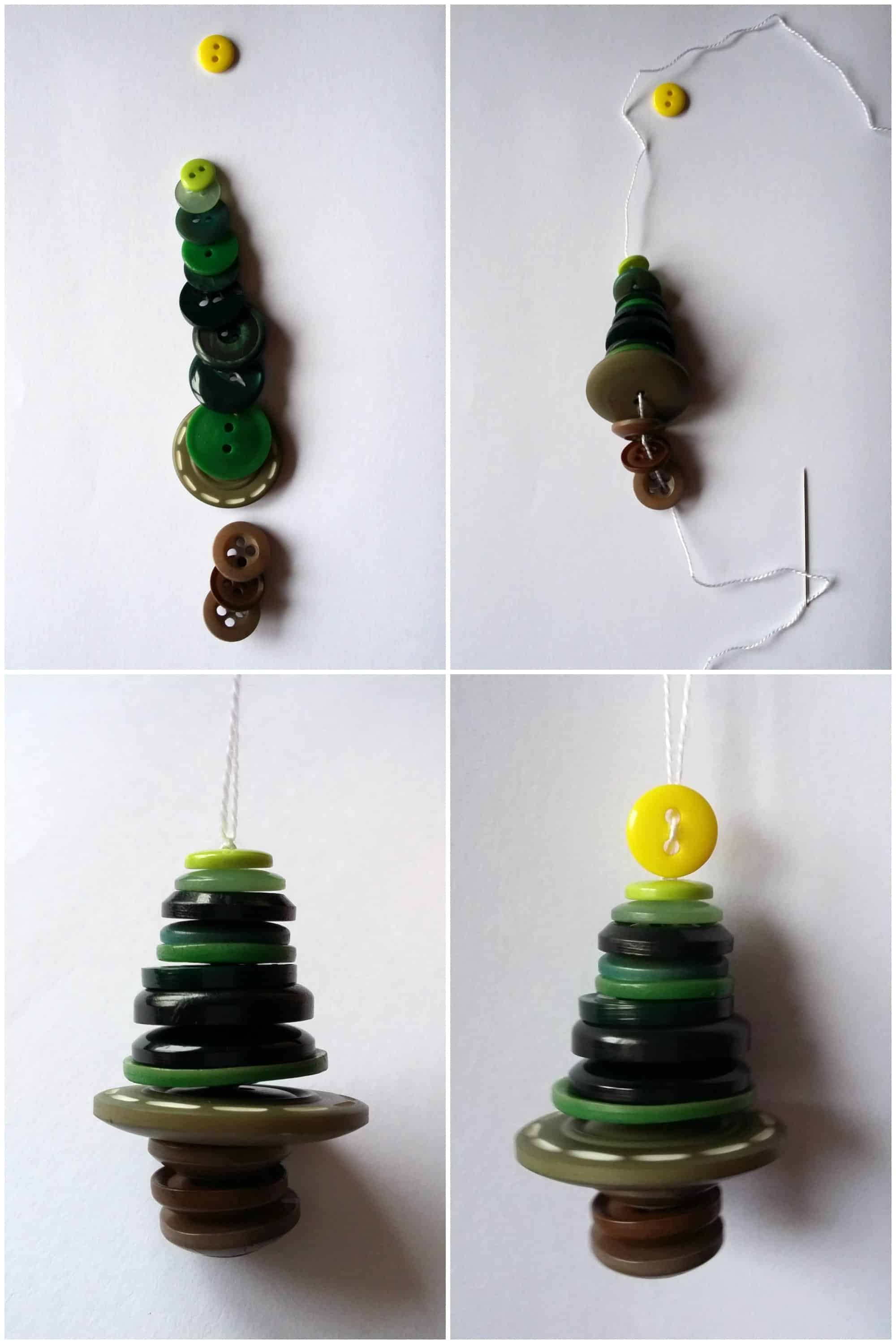 Christmas Tree Button Ornaments
