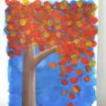 How To Paint An Autumn Tree With Acrylics Birch And Button
