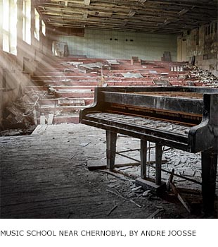 Music school near Chernobyl nuke plant, by Andre Joosse