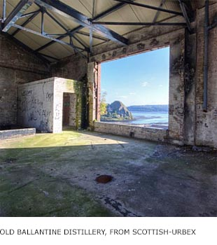 Former Ballantine's Scotch distillery, Dumbarton, Scotland, by Scottish-Urbex