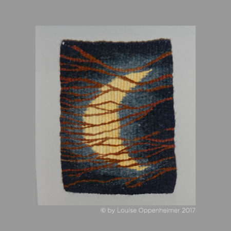 L. Oppenheimer. Tapestry Weaving. 'Crescent Moon'