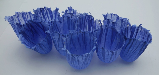Alison Simpson, Blue Ten, linen pulp