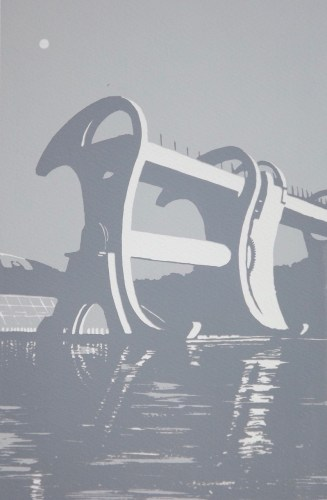 Ian Scott Massie. The Falkirk Wheel 50 x 40cm