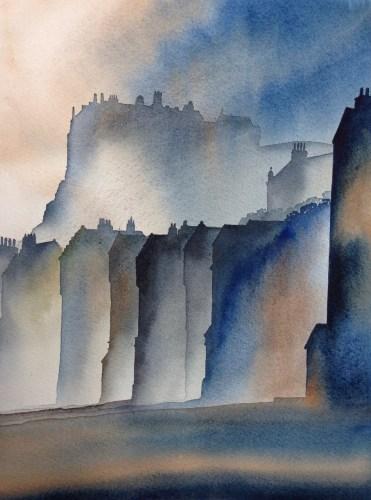 Ian Scott Massie. The Grassmarket, Edinburgh 50 x 40cm